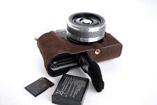 Genuine Real Leather Half Camera Case Bag Cover for Panasonic GX85 GX80 GX7 II D