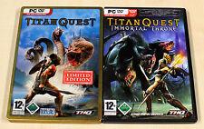 2 pc giochi collezione Titan Quest Limited Edition Immortal Throne-Action RPG