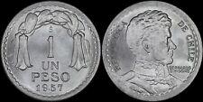 CHILE 1 PESO 1957-S (CHOICE UNC) *PREMIUM QUALITY*