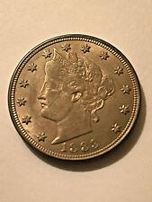 1883 N/C Liberty Nickel Unc+ Die Cracks #1099