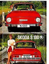 Skoda S100 Brochure Depliant French Prospekt 1970 Mint Condition