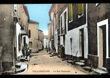 VALLABREGUES (30) VILLAS animées , Rue NATIONALE cliché période 1930