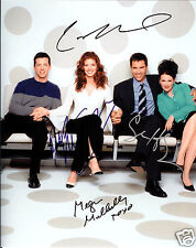 WILL & GRACE CAST AUTOGRAPH SIGNED PP PHOTO POSTER