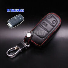 3 Buttons Leather Cover Remote Smart Key Case Shell For Fiat Ottimo Dart