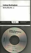 Fleetwood Mac LINDSEY BUCKINGHAM Did you Miss Me PROMO DJ CD single 2008 USA