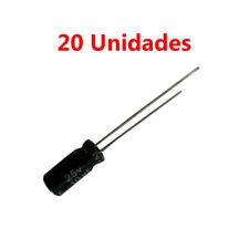 20x Condensador Electrolitico Polarizado 10uF 25V 12x5mm