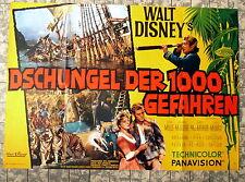 WALT DISNEY * Dschungel der 1000 Gefahren - A0-FILMPOSTER EA German 2-Sheet ´65