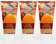 3 Bath & Body Works SWEET CINNAMON PUMPKIN Hand Cream Lotion Travel Mini 2 oz