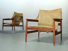 1 (von 6) Hans Olsen, Kinna Design, Wildleder Armchairs für Viskamobler, Sweden