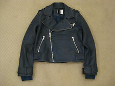 Marc by Marc Jacobs Distressed Leather Moto Biker Jacket Small NEW $1.3K SALE!