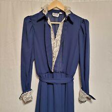 New listing Vintage 70s 80s Dress R.E.O. Originals Minimalist Sheer Lace Collar