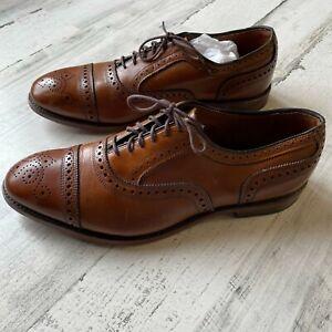 Allen Edmonds Strand Walnut Brown Oxford Shoes Size 9.5 EEE Wide