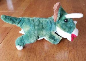 Wild Republic 2017 Green Triceratops Plush Stuffed Dinosaur Toddler Lovey Gift