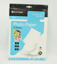 A4 Premium Photo Paper Platinum 220gsm Glossy 12 Sheets Size 297mm x 210mm