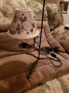 Accent Lamp Primitive Antique Vintage Look Black