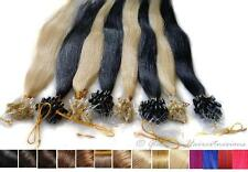 100% Humano REMY Cabello natural Microring Lazo Extensiones de pelo 50cm