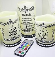 Arabic Calligraphy LED Candle for Home Decor & Gift 3 in 1 with remote control