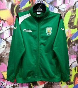 FC Karpaty Lviv Карпаты Львов Soccer Full Zip Jacket Longsleeve Top Joma Mens L