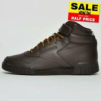 Reebok Classic Ex O Fit Hi Men's Leather Hi Top Fashion Sneakers Trainers Brown