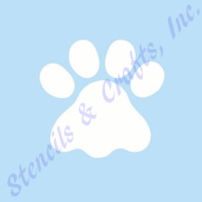 "4.5"" PAW STENCIL PAWS PRINTS STENCILS TEMPLATE TEMPLATES PAINT CRAFT ART NEW"