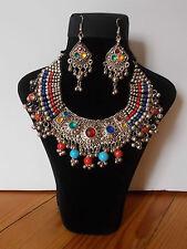 Parure , Collier Tribal et Boucles d'oreille ,  Artisanat Inde,  Kutch Gujarat 2