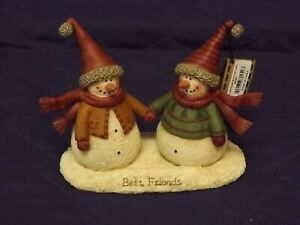 Blossom Bucket Best Friends Snowman/Snowwoman Couple - 80252