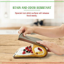 Swiss Cake Roll Oven Baking Tray Pizza Mats Silicone Swiss Sushi Nonstick Side