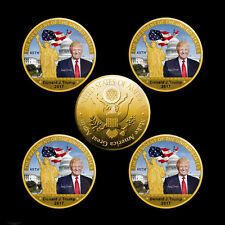 US 45th President Donald Trump Metal Coin 24K Gold plated Coin Collection Coin