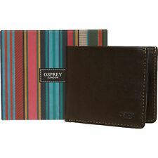 New Osprey London Gents Brown Luxury Leather Wallet RRP £70 BNWT BNIB