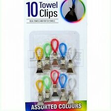 10pcs Tea Towel Clips Hand Clip Hooks Hanging Hangers Loops Cloth Kitchen Cafe