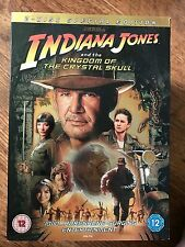 INDIANA JONES & the Kingdom of the CRISTAL SKULL GB 2-Disc DVD W/housse