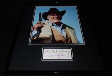 Jack Palance Signed Framed 16x20 Photo Display JSA