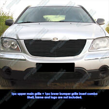 Fits 2004 2006 Chrysler Pacifica Black Billet Grille Combo