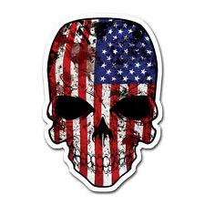 American Flag Skull Die Cut Bumper Sticker Decal Us Usa Patriotic vinyl Flag U S