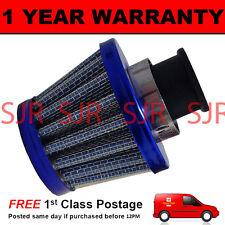 12 mm Filtro De Aceite Cárter Respiradero De Aire se ajusta la mayoría de los vehículos de cono azul