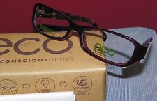 New ECO Earth Conscious Optics 1030 Burgundy Tortoise Modo RX Eyeglasses    E744