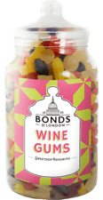 BONDS - WINE GUMS - 2.1KG GIFT JAR, TRADITIONAL SWEETS, XMAS, RETRO,JELLY