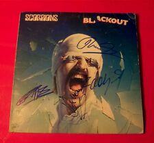 """Scorpions/Blackout""(album!)... signed by 4 original members!"