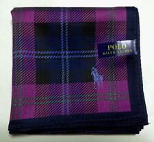 POLO Ralph Lauren Handkerchief hanky scarf bandana Purple Check Men Auth New