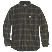 Carhartt 103314C - Rugged Flex Hamilton Plaid Flannel Shirt - Army Green 301