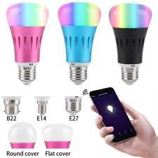 WiFi Smart LED Light Bulb Globe For Alexa Google Home RGB Colour 7W E27 B22 E14