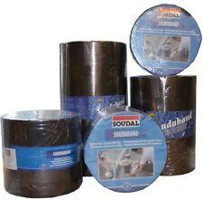 Soudal Soudaband Aludichtband Bitumenband Dachband Gr.300mm x 10m ->blei/graphit