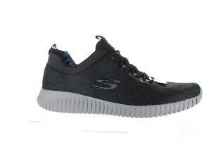 Skechers Mens Hartnell Black/Grey Walking Shoes Size 14 (1936935)