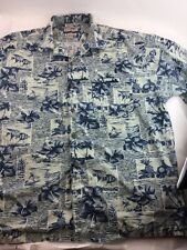 Mens High Sierra Hawaiian Aloha Friday Surfer Shirt XL Extra Large Cotton