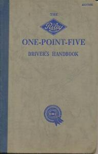 Drivers Handbook for Riley One-Point-Five AKD750E