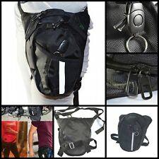 Motorcycle Fanny Pack Racing Drop Leg Bag Outdoor Tactical Waist Pack Black New
