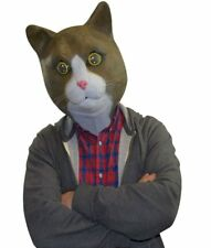 Freaky Cool Brown Cat Mask ~ Adult Costume Party Latex Head Face +1 Million Bill