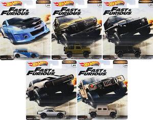 Fast & Furious Off-Road Set Premium 5 Modellautos 1:64 Hot Wheels GBW75