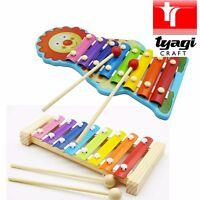 Lelin Wooden Wood Childrens Kids Metal Xylophone Glockenspiel Musical Instrument