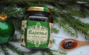 Russian Natural Young PINE CONES JAM 250 gr Conserve Food from Russian Siberia